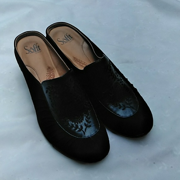Sofft Shoes   Womens Black Mule   Poshmark